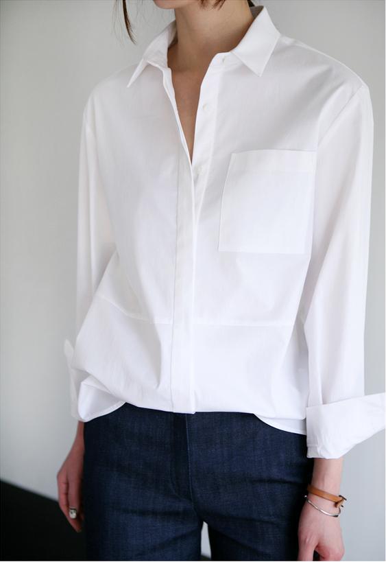 Белая рубашка и джинсы индиго. Базовый гардероб.