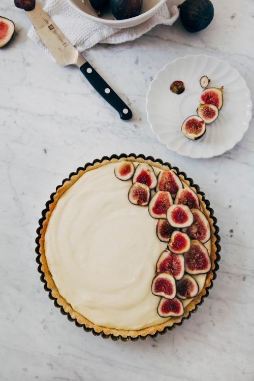 Французская выпечка. Тарт с инжиром и кремом шантильи. woman-delice.com