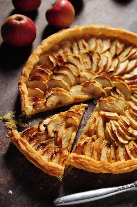 нормандский яблочный тарт