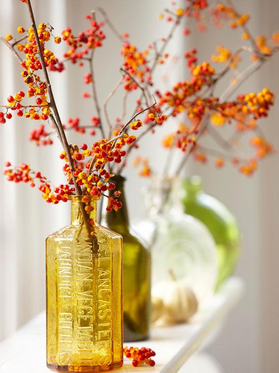Декор цветами. Зимние букеты. Идеи для интерьера. woman-delice.com