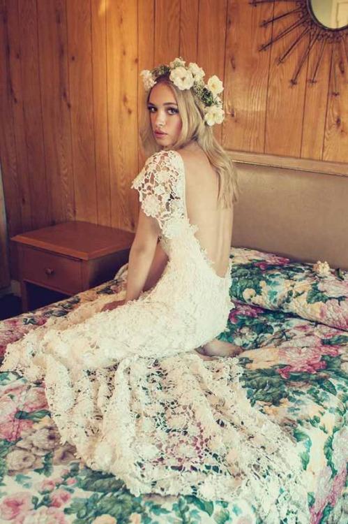 Свадебное платье, связанное крючком. Свадебная мода 2016.
