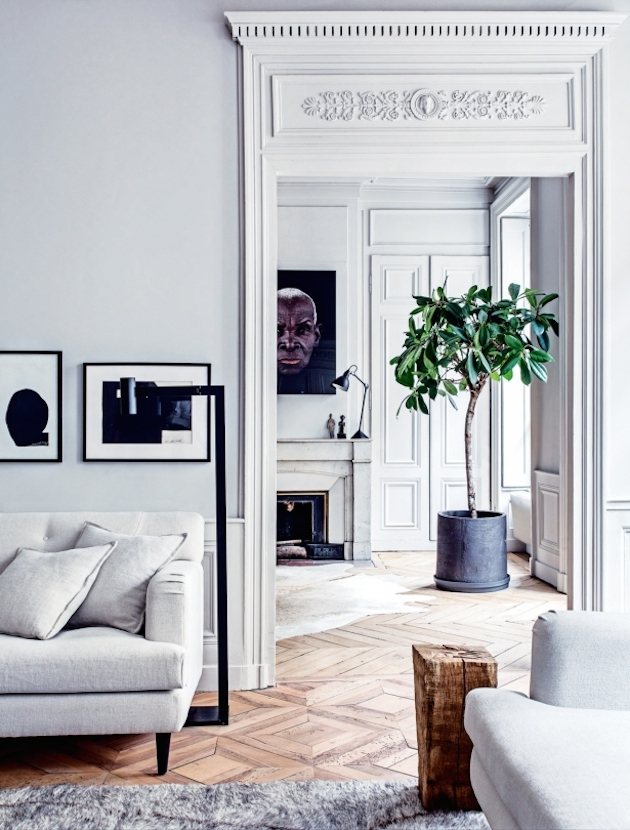 Старая квартира в Париже. Дизайн интерьера.