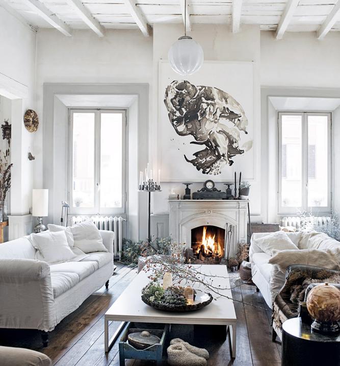 Старая квартира в Италии. Дизайн интерьера.