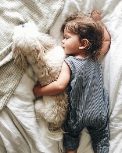 малыш с собачкой