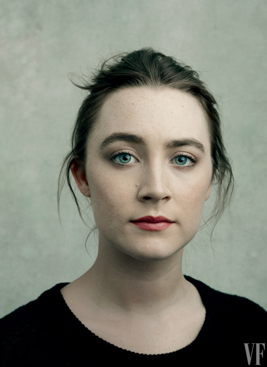 Saoirse Ronan, photographed by Annie Leibovitz for Vanity Fair, March 2016.