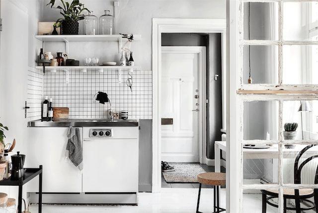 Скандинавский интерьер, кухня.