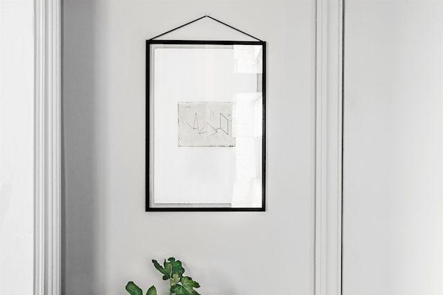 Скандинавский интерьер. Постер на стене.