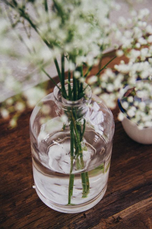 сода и живые цветы