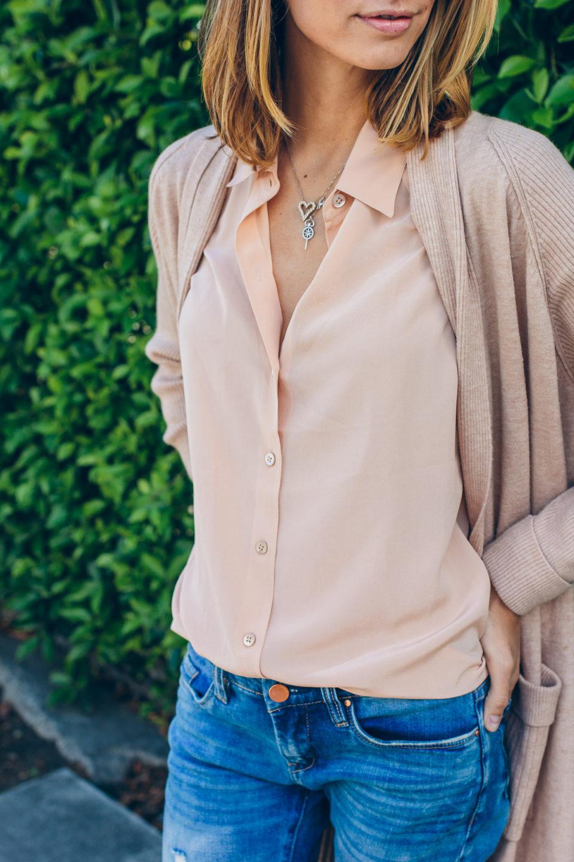 Нейтральная гамма в одежде. Джинсы и блузка.