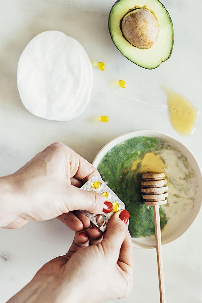 мульти-маска. Маска для лица с авокадо, медом и витамином Е. Домашние маски. DIY. Домашняя косметика.