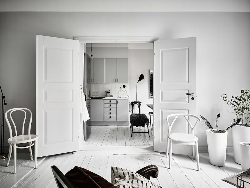 Скандинавские интерьеры. Маленькая квартира.