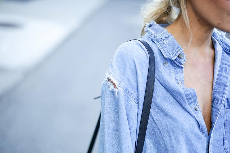 Джинсовая рубашка. Denim shirt.
