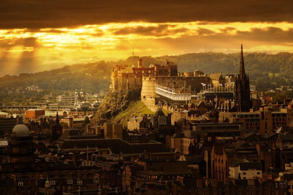 Замок Эдинбурга, замки шотландии