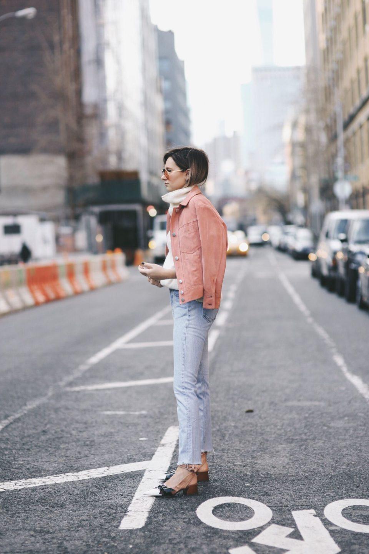 pink jacket, blue jeans, daniel, розовая джинсовая куртка, уличный стиль, street style