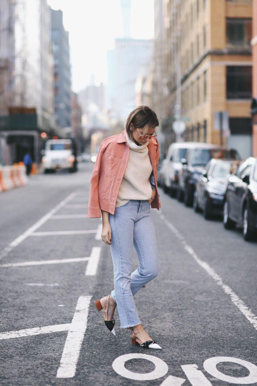 pink jacket, blue jeans, daniel, розовая джинсовая куртка
