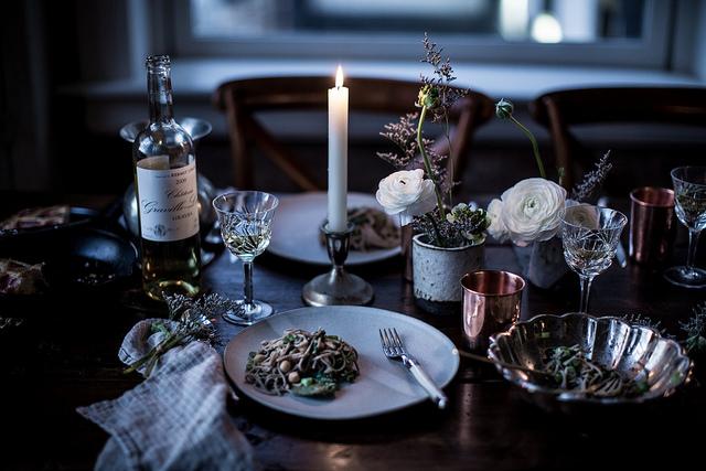 декор стола, ужин, званый ужин за час