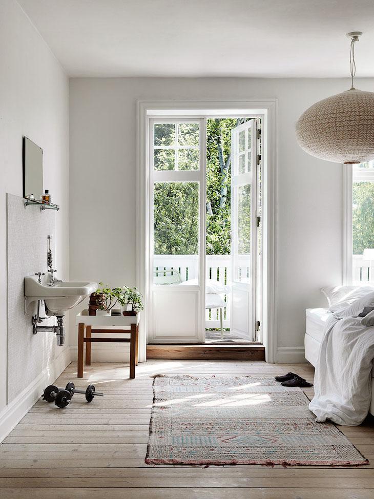 Дача. Скандинавский дизайн. Спальня