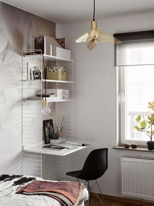 Домашний офис. Минималистичный интерьер.