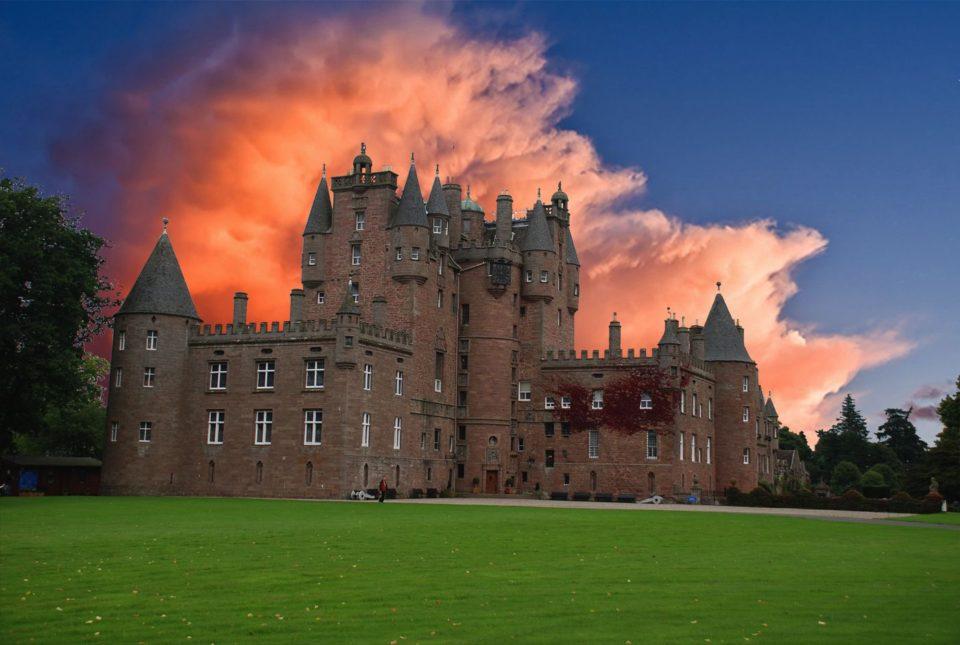 замки в шотландии, glamis castle, замки шотландии