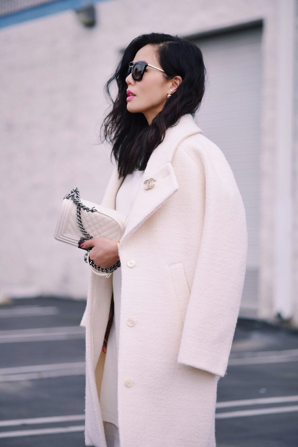 asos white coat