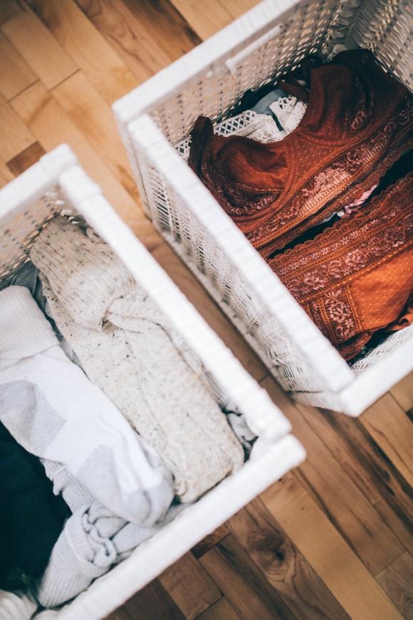 ящики для белья, порядок в шкафу