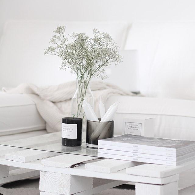 белый цвет, декор интерьера, декор в белом