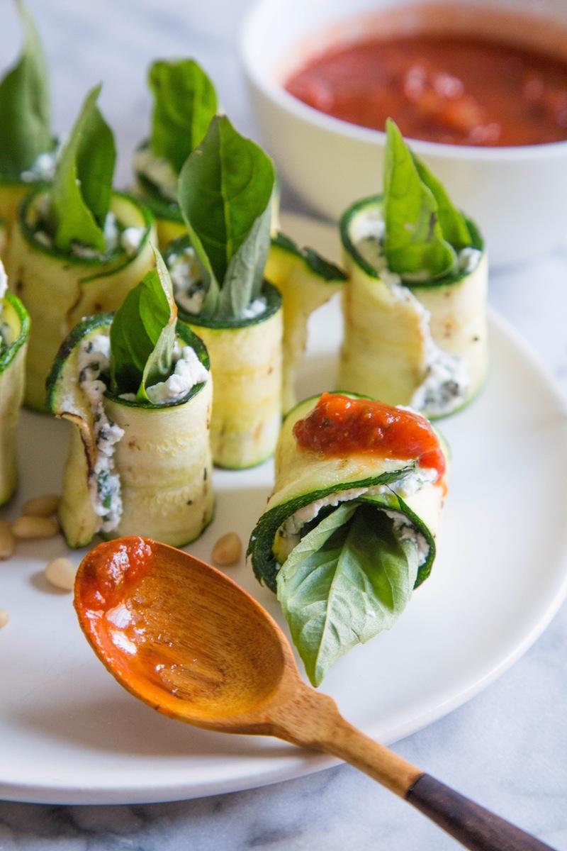 гарнир к грилю, блюда из цуккини, блюда из овощей, роллы из цуккини