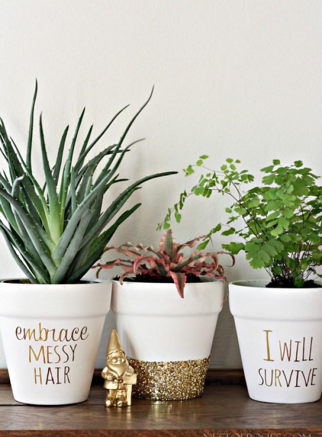DIY, своими руками, декор для дома, цветочные горшки