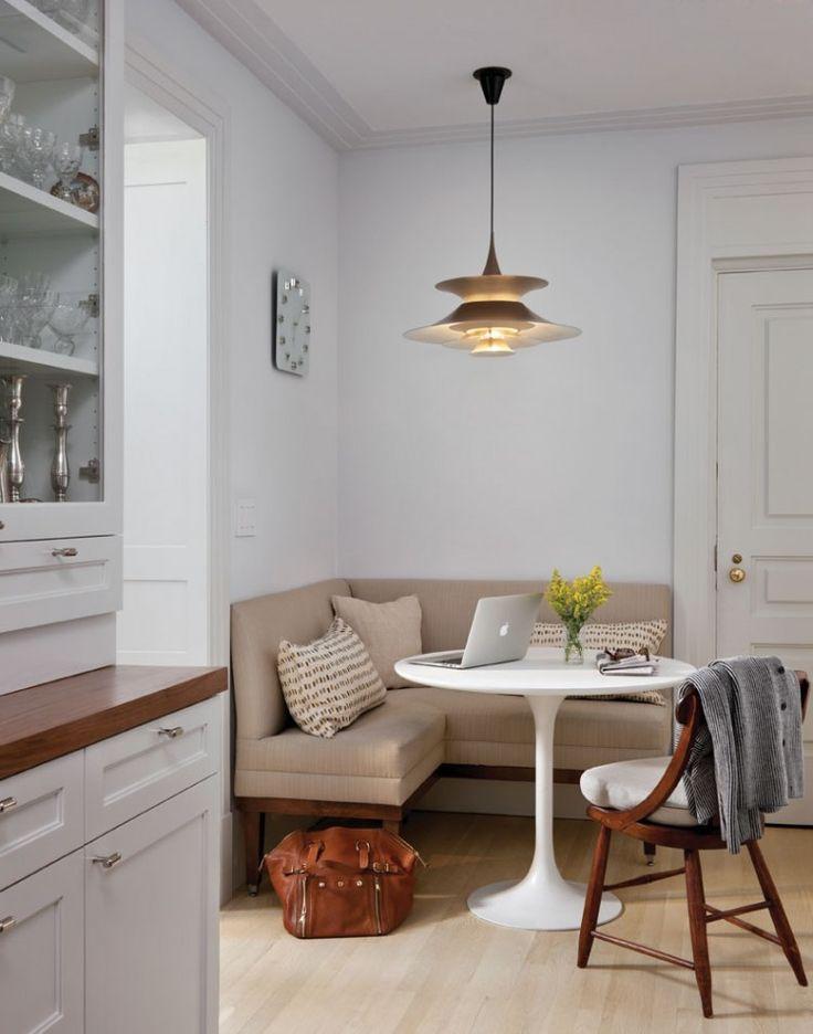 маленькая кухня, уголок, круглый стол