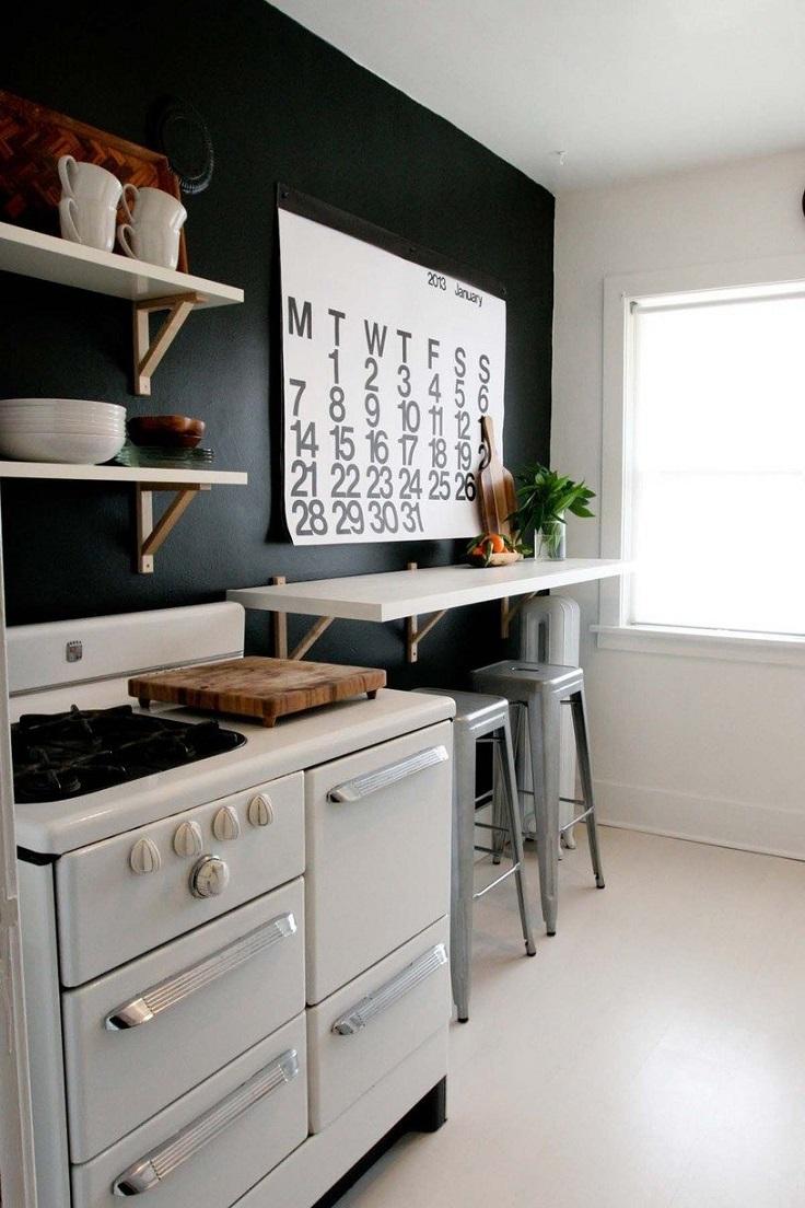 барная стойка, маленькая кухня, дизайн, интерьер