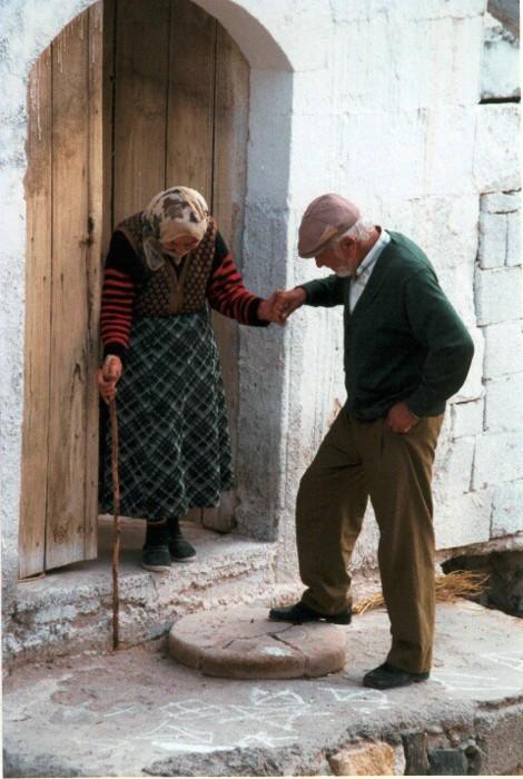 пожилая пара, любовь