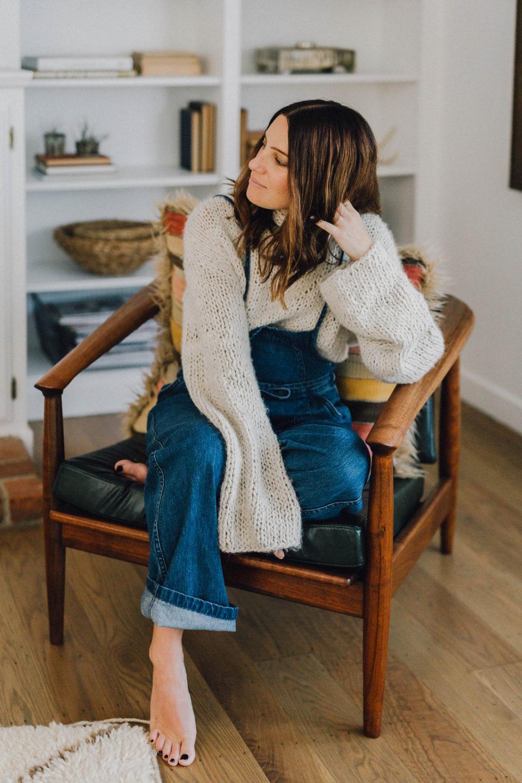 jeans, knitwear