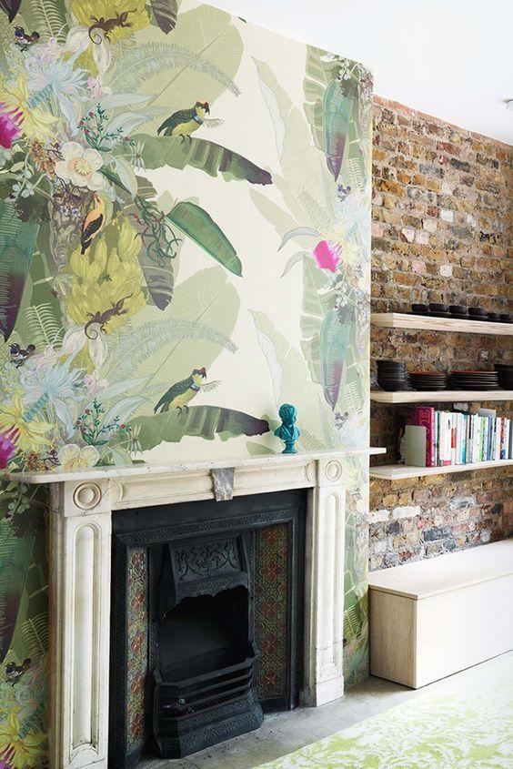 обои с рисунком, яркие обои, декор стен