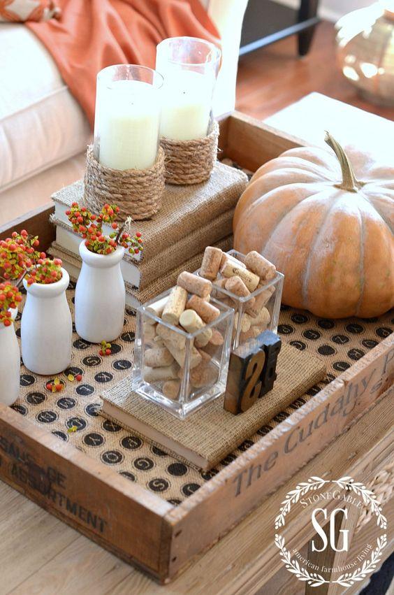 viniette, осенний декор интерьера, композиция, украшение дома, тыква