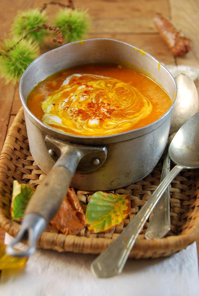 суп из тыквы, pumpkin soup, суп-пюре из тыквы