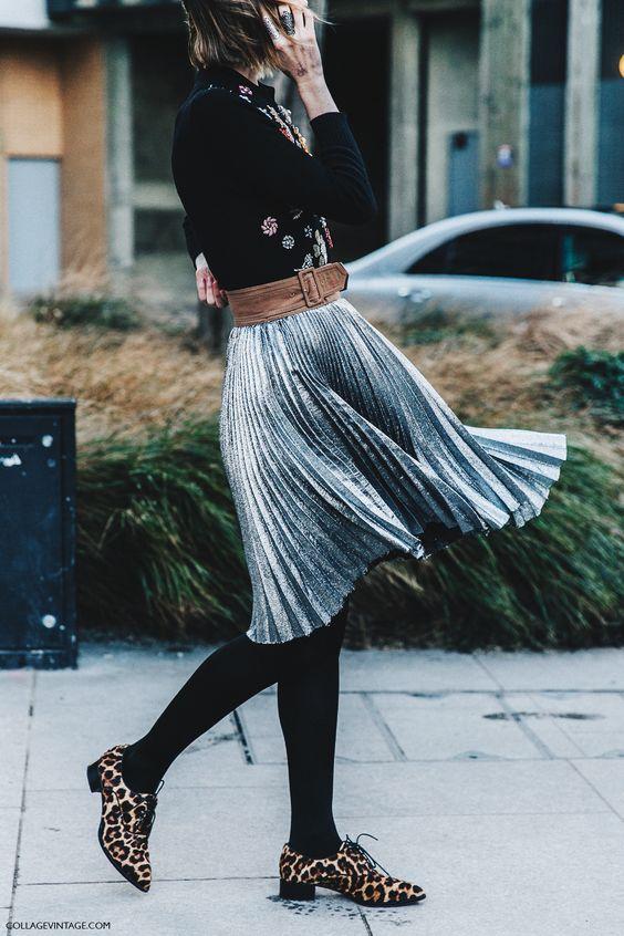 тренды зима-осень 2016, плиссированная юбка, pleated skirt