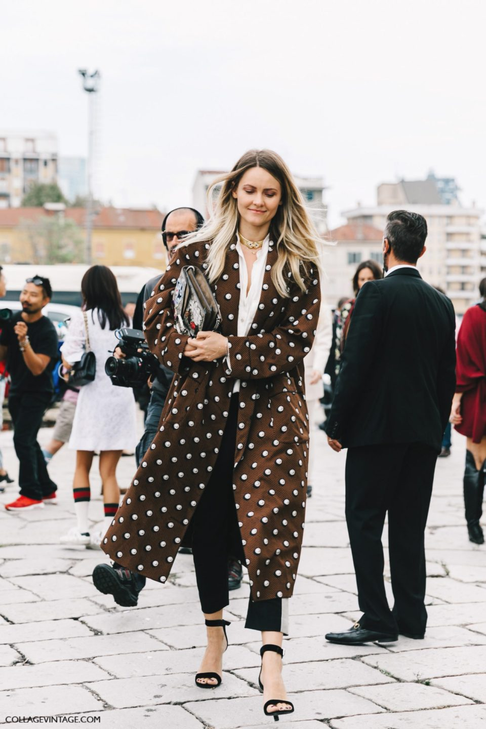 polka dot trench, горох