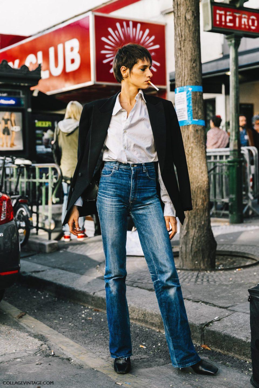parisian chic, jeans, black jacket