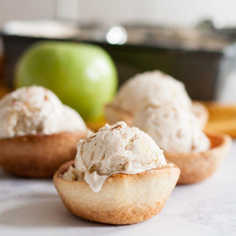 домашнее мороженое яблоко-корица, осенние деерты