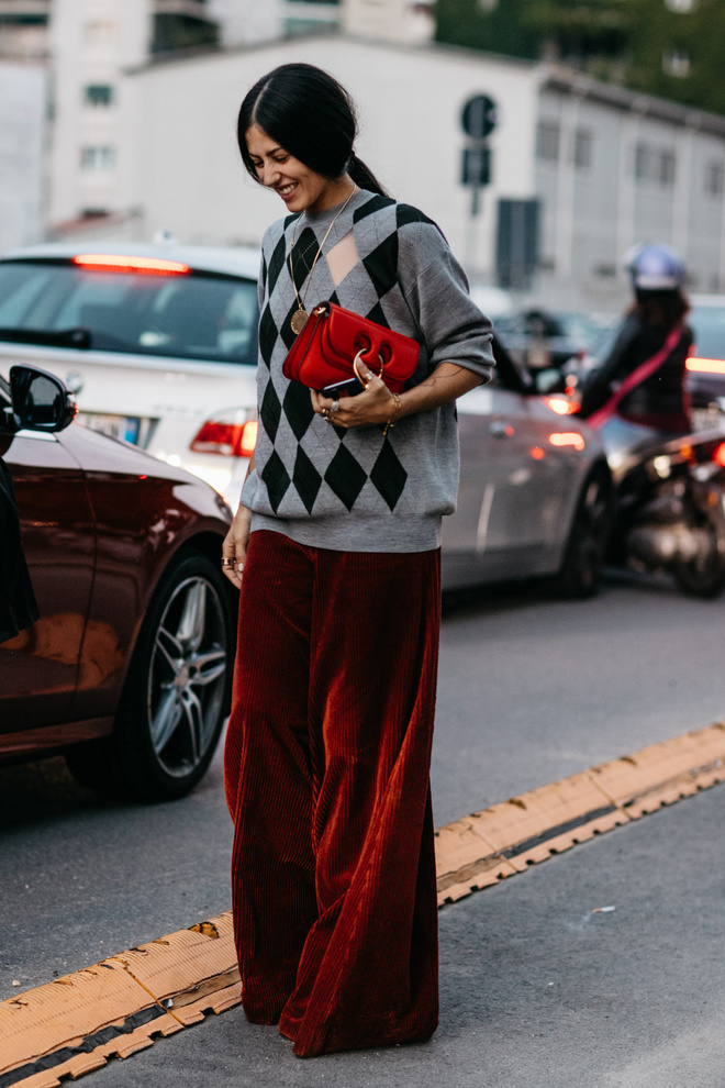 velvet pants, trends 2017, milano, бархатные брюки, милна, тренды 2017