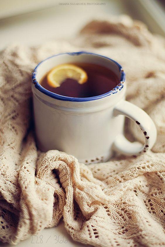 Чай с лимоном и медом от простуды