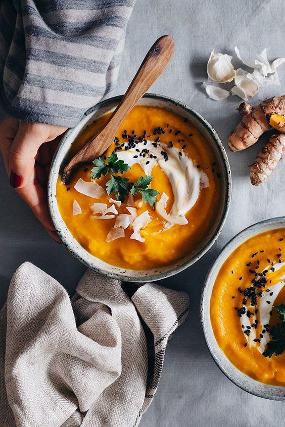 Морковный суп с имбирем при простуде