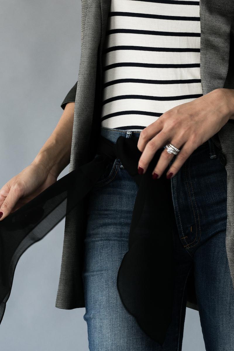 Женский платок-галстук: 1 аксессуар - 5 применений