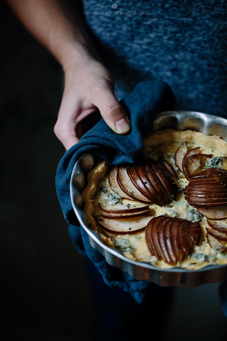 Зимний грушевый пирог, простой и быстрый рецепт