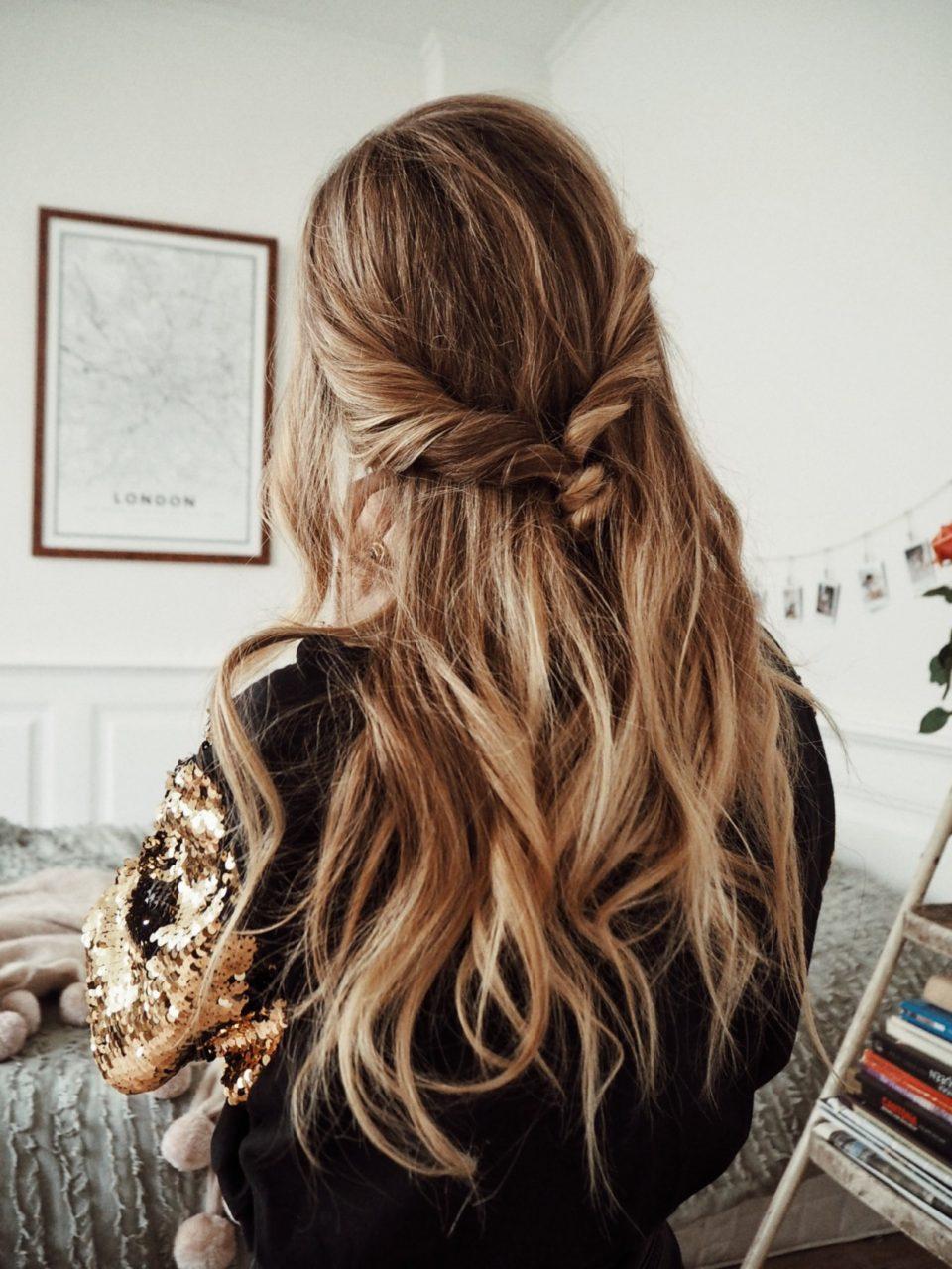 Быстрая укладка для волос - плетенка.