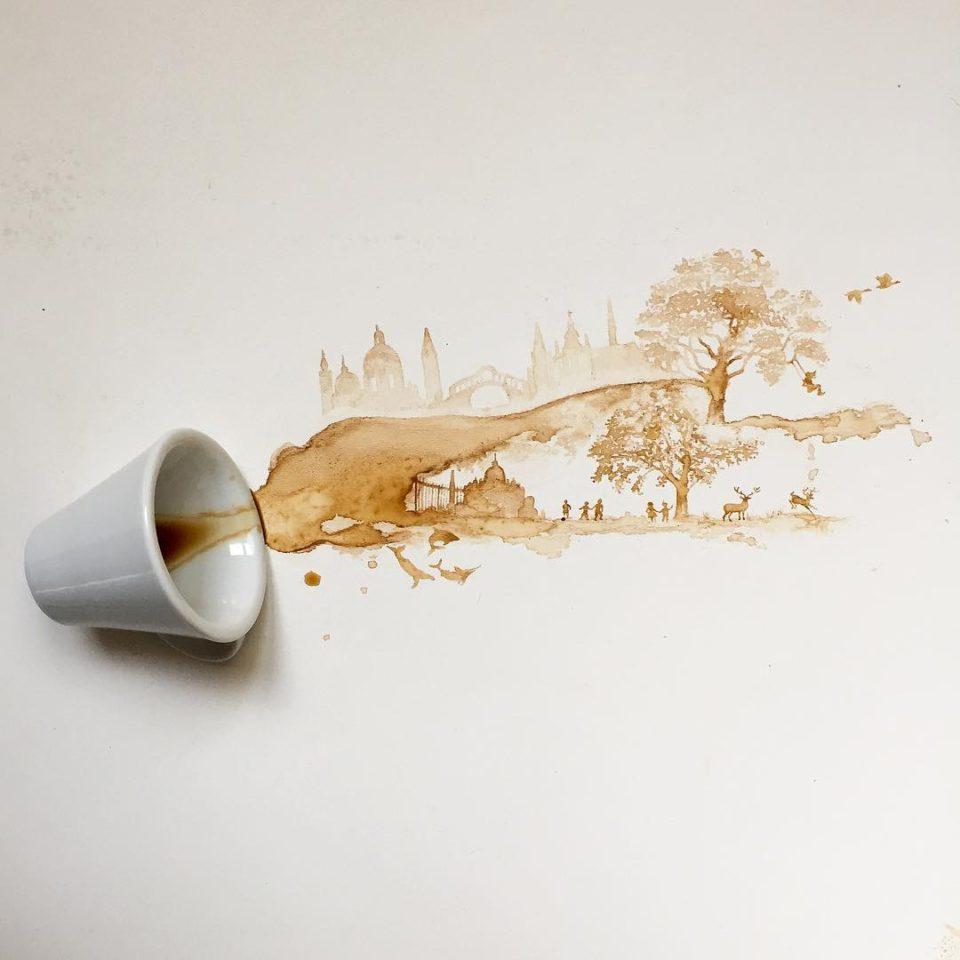 рисунки кофе