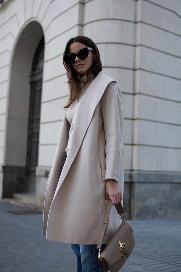 Пальто из верблюжьей шерсти - 6 разных сочетаний и образов.