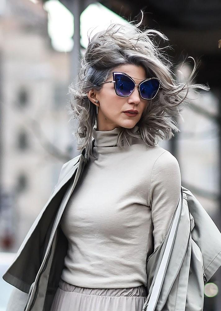 Grey, new york street style, spring-summer 2017