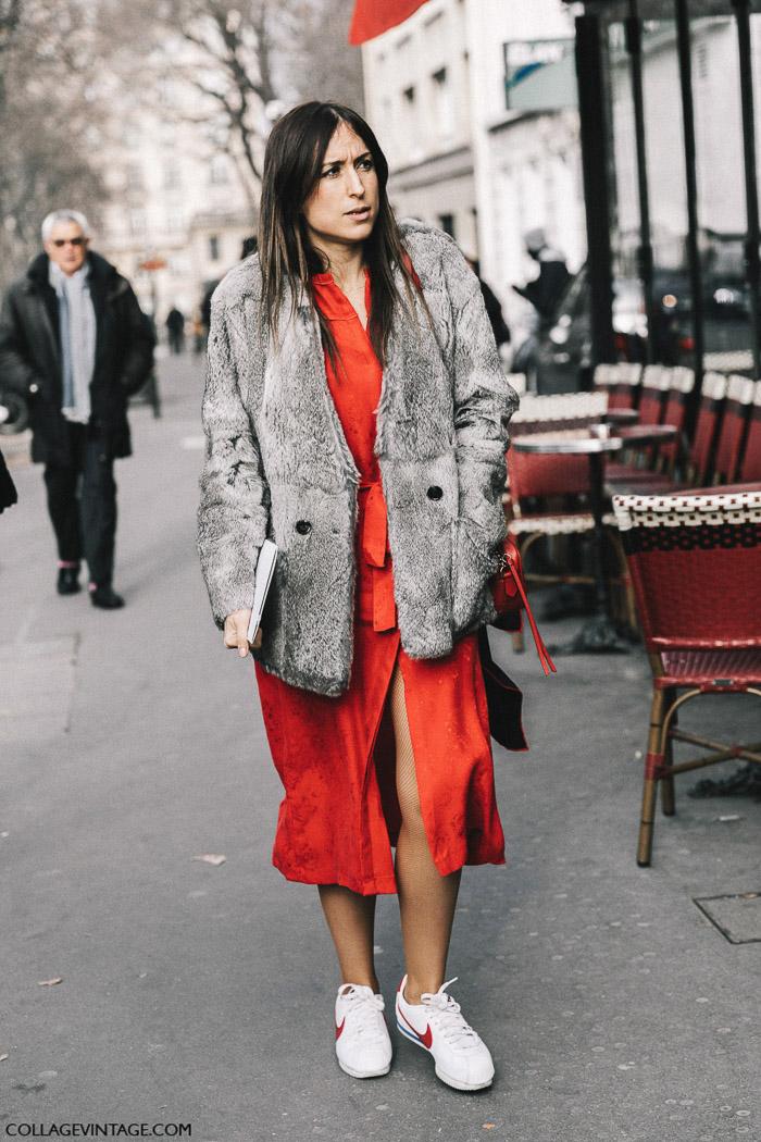 Красное платье, parisian chic