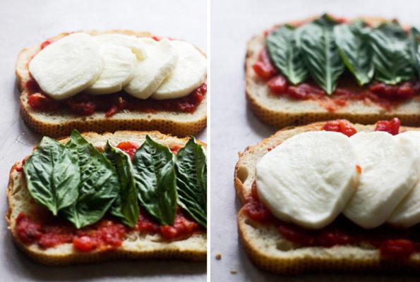 Легкие летние обеды: сэндвич с моцареллой на гриле